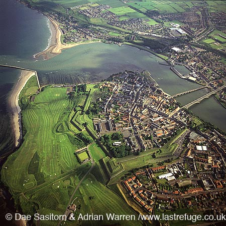 Berwick-upon-Tweed and the Estuary of river Tweed, Northumberland, England