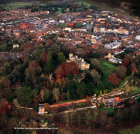 Devizes Castle and its town, Wiltshire, England