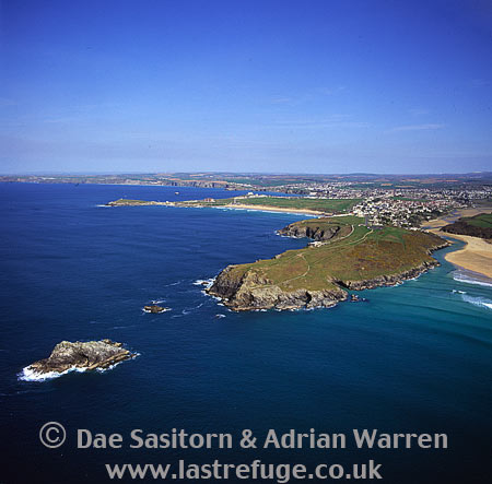 Pentire Point East with Pentire and Newquay, Cornwall, England