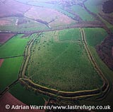 Hod Hill, an iron age hill fort with roman centurion, Stourpaine, Dorset, England