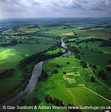 Chesters Roman Fort with River Tyne, Hadrian's Wall, Northumberland, England