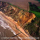 Coast Erosion by North Sea, East Runton, near Cromer, Norfolk, East Anglia, England