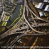 Spaghetti Junction, Junction 6 on the M6, Birmingham, West Midlands, England