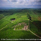 Housesteads roman fort and Hadrian's Walls, Northumberland, England