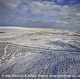 Wind Farm in snow, England