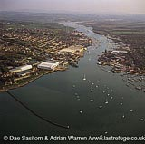Estuary of the River Medina, Cowes and East Cowes, Isle of Wight, Hampshire, England