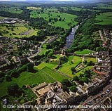 Barnard Castle on river Tees, Durham, England