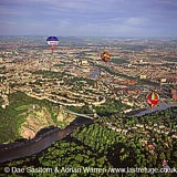 Bristol, Ballons over Clifton Suspension Bridge, Somerset, England