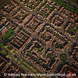 Milton Keynes, shows housing and its grid system, Buckinghamshire, England