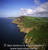 North Devon coast, west of Lynton, Devon, England