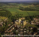 Wells cathedral and its city, Somerset, England
