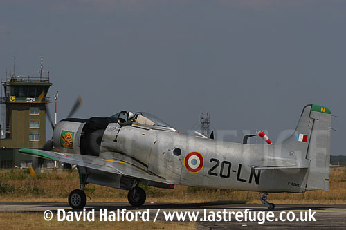 Douglas AD-4 Skyraider (F-AZHK) taxying back, Cazaux French Air Force Base, Landes, France - June 2005