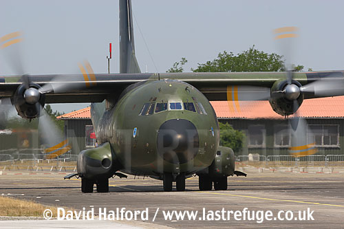 Transall C-160D / C.160D (50+99) of the Luftwaffe taxying, Cazaux Air Base, Landes, France - June 2005