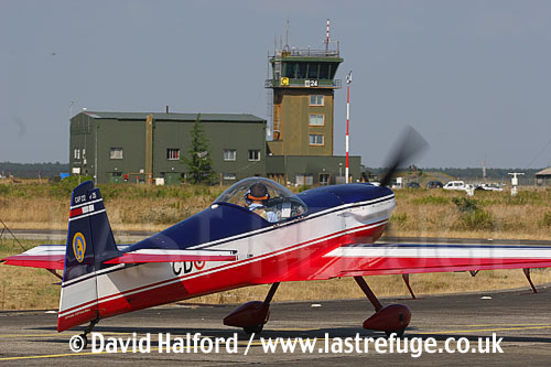 Mudry Cap 232 (35-CD) of the French Air Force taxying, Cazaux Air Base, Landes, France - June 2005