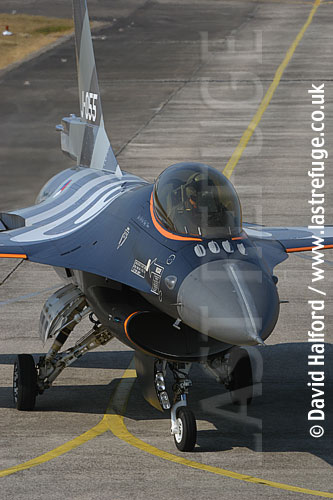 Lockheed-Martin F-16AM (J-055) Dutch AF taxying, Cazaux Air Base, Landes, France - June 2005
