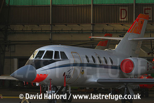 Dassault Falcon 20 (131-CD) of CEV-02, Cazaux Air Base, Landes, France - June 2005