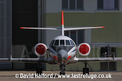 Dassault Falcon 20 of CEV-01, Cazaux Air Base, Landes, France - June 2005