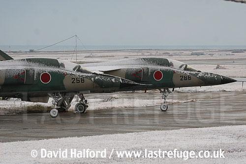 Mitsubishi F-1 (redundant) of JASDF x2, Tsuiki AB, Japan-12-05-8240