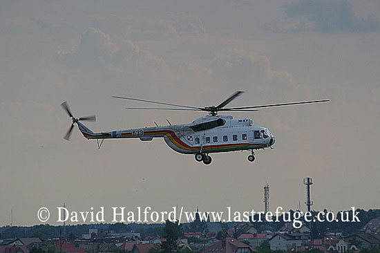 Civil: Mil Mi-8P Hip (633), 36 SPLT (tbc), Warsaw Airport, Poland, 19th June 2007-8860