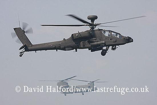 Attack helicopters: Westland Boeing WAH-64D Longbow Apache (ZJ219), Army Air Corps , Biggin Hill Air Fair, U.K., 06-2