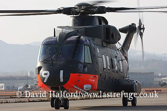 Search and Rescue Combat aircraft: AgustaWestland (Kawasaki) CH-101 (8191), 111 Kokutai JMSDF, Iwakuni AB, Honshu, Japan, 12-2008_00