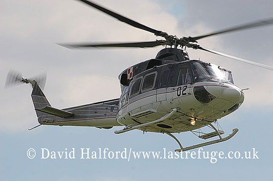 Medium military transports: Bell 412HP (02) of Polish AF, Radom, Poland, 08-2005_8752