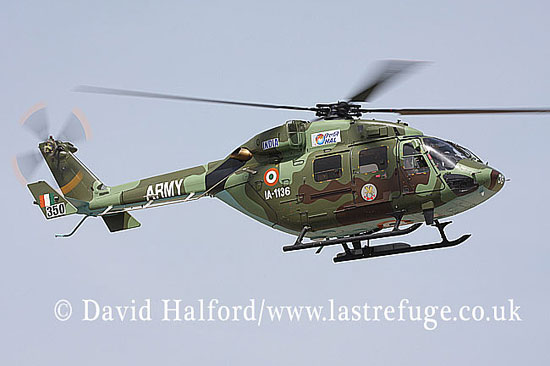 Small military transports: HAL Dhruv (IA-1136), Indian Army, ILA Airshow, Berlin-Schoenefeld, Germany, May 2008_0042