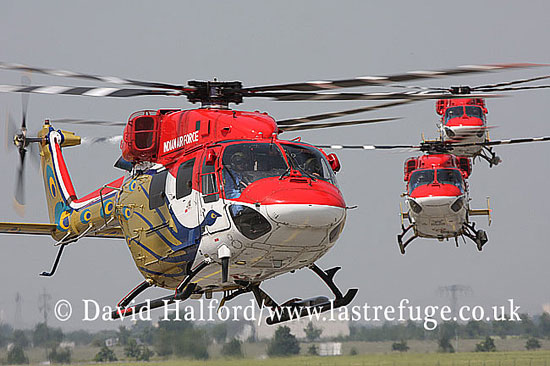 Small military transports: HAL Dhruv(s), Sarang Team, Indian AF, ILA Airshow, Berlin-Schoenefeld, Germany, May 2008_0130