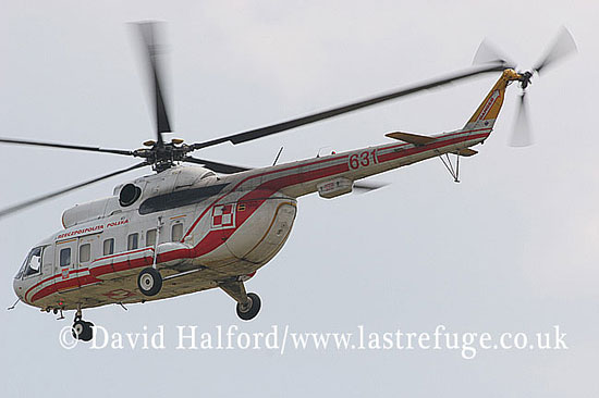 Paramilitary and Medical emergency: Mil Mi-8P Hip (631), 36 SPLT, 'Polish Republic', Powidz Air Base, Poland, 19th June 2007-6502