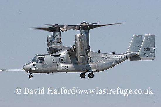 Future vertol developments: Bell Boeing MV-22B Osprey (166391), USMC, Farnborough, U.K., July 2006-0100