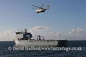 Anti-submarine: AgustaWestland Merlin HM.1 (ZH828-CU) + dipping sonar, FOST demo, English Channel, Devon, U.K., 3