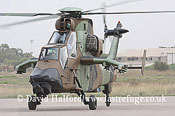 Attack helicopters : Eurocopter EC.665 Tigre HAP - or HAD - (BST), Company demonstrator, Mitiga Air Base, Libya, 10-20