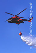 Search and Rescue Combat aircraft: Aerospatiale Hkp10-Super Puma (10405-95) + bambi bucket, Ronneby, Sweden, 08-2004_0001 (transparency)