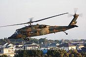 Medium military transports: Mitsubishi (Sikorsky) UH-60JA (43108), 102 Hikotai (TBC), JGSDF, Metabaru AB, Kyushu, Japan, 12-6