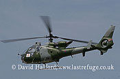 Small military transports: Aerospatiale-Westland SA.341B Gazelle AH.1 (XZ338), Blue Eagles, AAC, RAF Waddington, UK, July 20