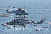Small military transports: Westland Lynx HAS.3S + HMA.8DSP, Black Cats, RN, Bournemouth Air Festival, U.K., 23-08-2009_0066