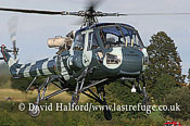 Warbirds and Museums: Westland Wasp HAS.1 (XT787) landing, Old Warden, 02-10-05_4351Ba