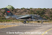 Dassault-Breguet/Dornier Alphajet (E13 / 8-MM) of the French Air Force taxying, Cazaux Air Base, Landes, France - June 2005