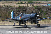 Vought F4U-7 Corsair (F-AZYS) taxying, Cazaux Air Base, Landes, France - June 2005