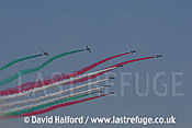 Aermacchi MB.339As of Frecce Tricolori flying-11, Cazaux, France / June 2005