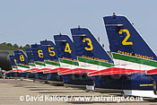 Aermacchi MB.339As of Frecce Tricolori flying / Cazaux Air Force Base, France / June 2005