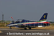 Aermacchi MB.339As of Frecce Tricolori, Italian Air Force (AMI) taxying / Cazaux Air Force Base, France / June 2005