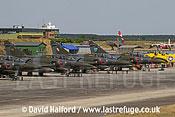 Dassault Mirage 2000Ds x4 parked, Cazaux,June 2005