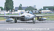 De Havilland Vampire FB Mk.50 (DU-M - F-AZOP) taxiing / Chateaudun Air Base, France / May 2003