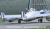 De Havilland Vampire FB Mk.50 (DU-M - F-AZOP) taxying out / Chateaudun Air Base, France / May 2003