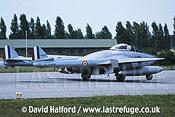 De Havilland Vampire FB.50 (F-AZOO) landing / Evreux Air Force Base, France / June 2003