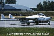 De Havilland Vampire FB.50 (F-AZOP) landing / Evreux Air Force Base, France - June 2003