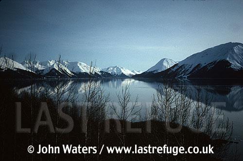 Turnagain arm, in March, Alaska, USA