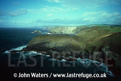Cornish coast, Tintagel, UK