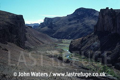 Canyon of Rio Pinturas, Santa Cruz, Patagonia, Argentina